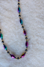 Load image into Gallery viewer, Purple and blue funky necklace