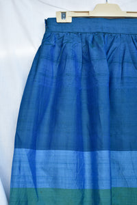 Blue and green long skirt, size S