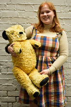 Load image into Gallery viewer, Vintage collectible oversized yellow teddy with growler