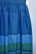 Load image into Gallery viewer, Blue and green long skirt, size S