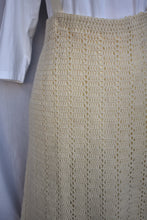 Load image into Gallery viewer, Homemade vintage crochet skirt with braces, size M