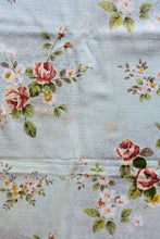 Load image into Gallery viewer, Long blue floral tablecloth
