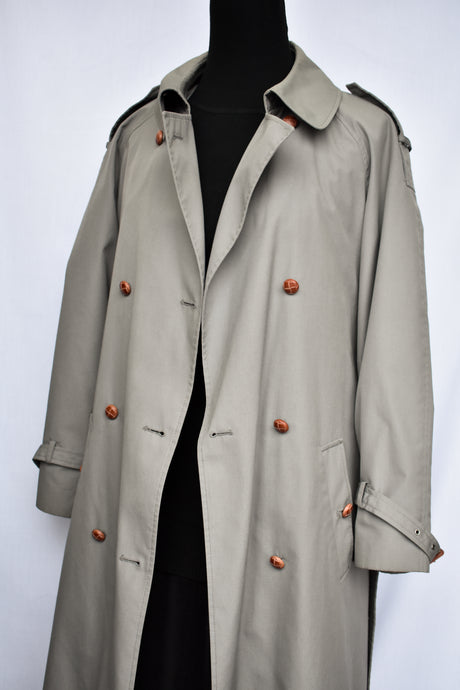 Paige grey trench coat, size M