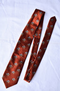 Dirk Joseph silk rust orange tie