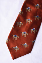 Load image into Gallery viewer, Dirk Joseph silk rust orange tie