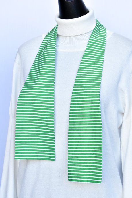 Stripy green neck tie