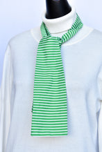 Load image into Gallery viewer, Stripy green neck tie