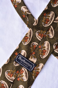 Burberry silk pear print tie