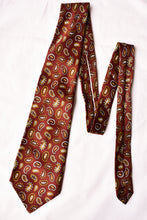 Load image into Gallery viewer, John Webster maroon paisley tie