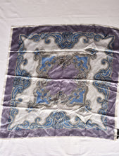 Load image into Gallery viewer, Silky blue paisley square scarf