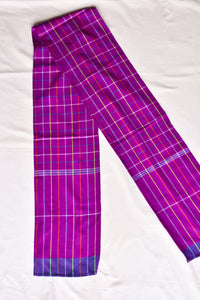 Neon purple scarf
