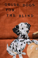 Load image into Gallery viewer, Retro guide dogs tea towel