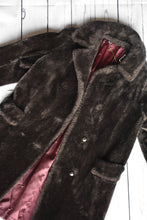 Load image into Gallery viewer, Long charcoal wool jacket, size S/M