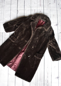 Long charcoal wool jacket, size S/M