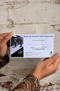 Shop on Carroll $20 gift voucher
