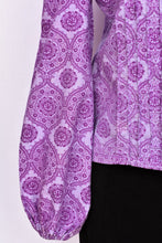 Load image into Gallery viewer, Purple high neck retro top, size S/M