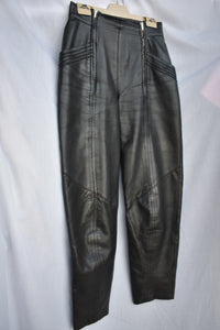 Bruestle black leather pants, size 8
