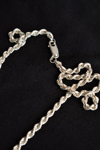 925 silver twisted style necklace