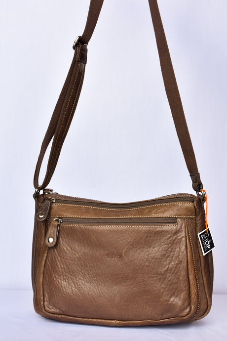 Milleni Italian leather shoulder bag