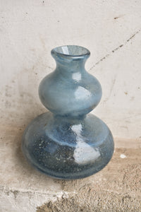 Baby Blue Holmegaard (signed and labelled) Lava Vase, Rare