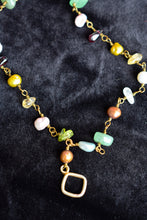Load image into Gallery viewer, Long multicoloured bead and stone necklace