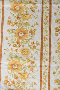 Retro light brown floral patterned sheet