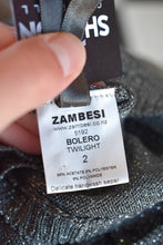 Load image into Gallery viewer, Zambesi sparkly cropped cardy, size 2