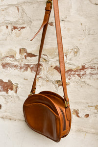 Tula brown leather cross body bag