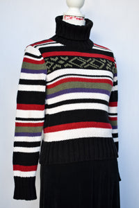 Striped turtleneck jumper, size 10