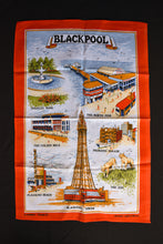Load image into Gallery viewer, Blackpool retro tea towel