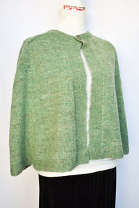 Handspun green cape, one size