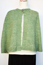 Load image into Gallery viewer, Handspun green cape, one size