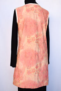 Pink and cream patterned dress, size S