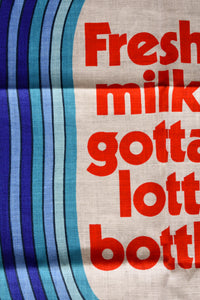 Fresh milk retro tea towel