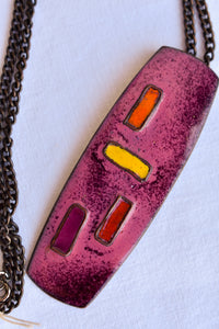 Valda enamelled copper necklace