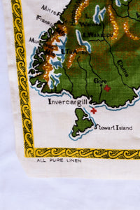 Retro NZ Red Cross map tea towel