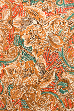 Load image into Gallery viewer, Uncut Cezzanne Exclusive design rust brown vintage fabric, 112cm x 4.1m