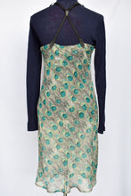 Load image into Gallery viewer, Toni Darling peacock pattern sheer dress, size L
