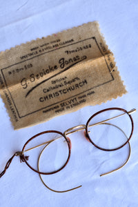 Vintage G.Sevicke Jones spectacles with case and cloth