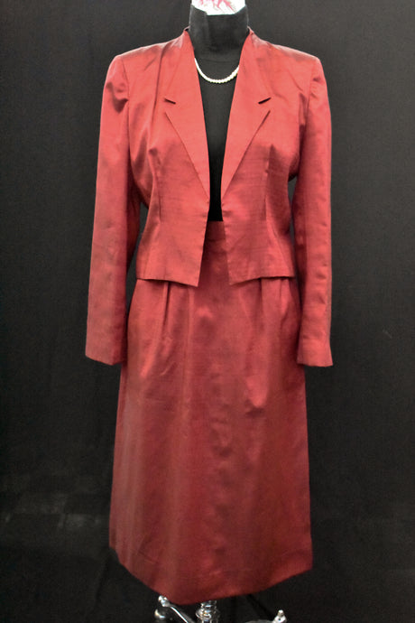 Vintage red suit jacket, size S