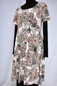 Glowing Sky floral dress, size 14