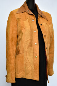 Caroline Goodman suede and leather jacket, size 12