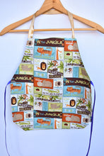 Load image into Gallery viewer, Handmade kids jungle apron