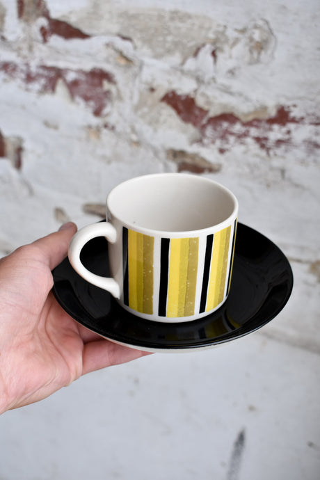1960's RARE Crown Lynn Sarabrand coffee cup and BLACK saucer