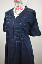 Load image into Gallery viewer, Navy button down dress, size 20