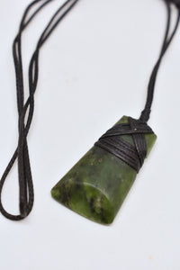Bob Wyber bound Pounamu/greenstone necklace