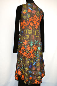 Silk hand printed Miranda Brown dress, size 10
