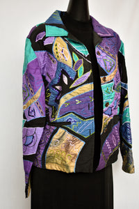 Draper's & Damon's purple and green jacket, size M