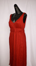 Load image into Gallery viewer, Red silk dress, size 10
