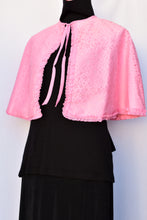 Load image into Gallery viewer, Pink retro Boudoir make-up cape, one size